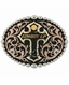 Montana Silversmiths Tri Color Cowboy Up Attitude Belt Buckle