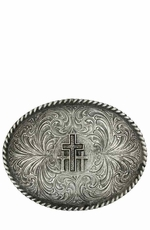 Montana Silversmiths Triple Cross Classic Antiqued Attitude Belt Buckle