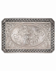 Montana Silversmiths Western Braid Belt Buckle