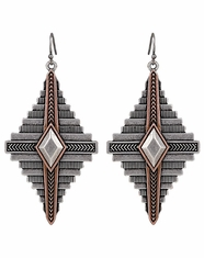 Montana Silversmiths Women's Rock 47 Aztec Earrings