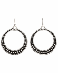 Montana Silversmiths Women's Rock 47 Circle Studded Dangle Earrings (Closeout)