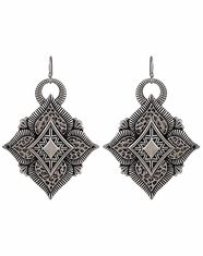 Montana Silversmiths Women's Rock 47 Hammered Aztec Earrings