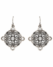 Montana Silversmiths Women's Rock 47 Maltese Fleur De Lis Cross Earrings