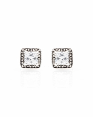 Montana Silversmiths Women's Studded Square Earrings