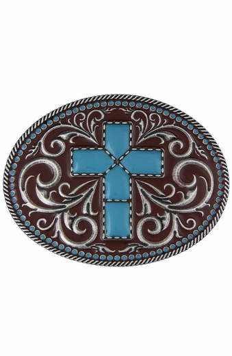 Montana Silversmiths Womens Gothic Southwest Cross Belt Buckle