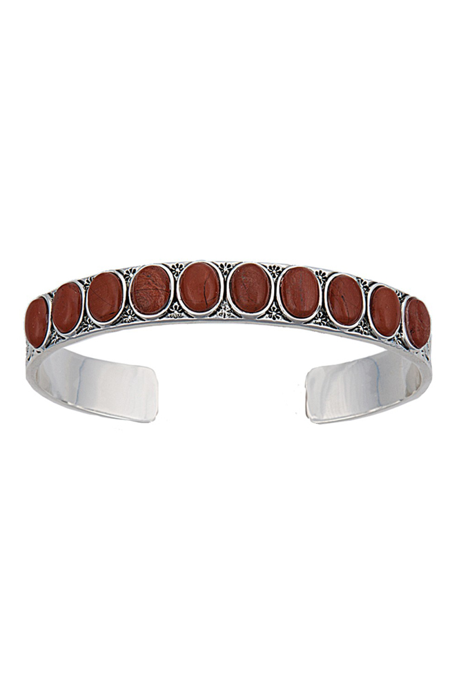 Montana Silversmiths Womens Canyon Colors Red Stone Cuff Bracelet