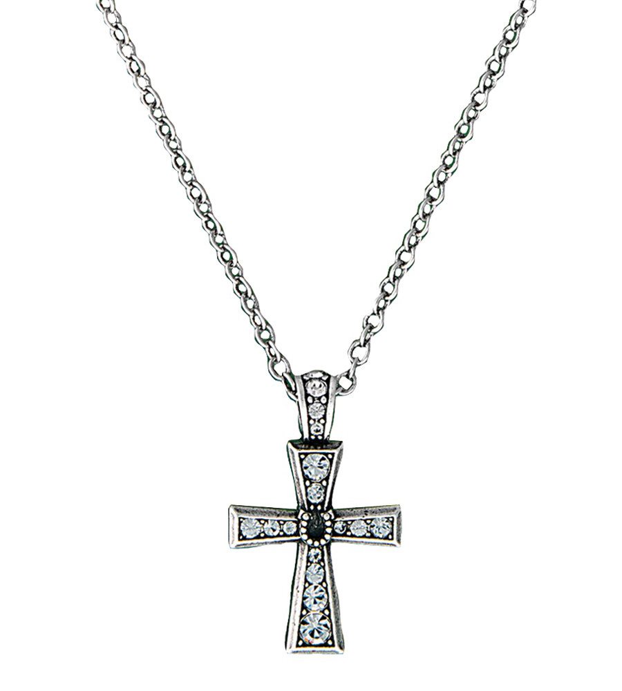 Montana Silversmiths Womens Horseshoe Cross Necklace