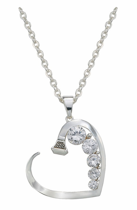 Montana Silversmiths Womens Horseshoe Nail Heart Necklace
