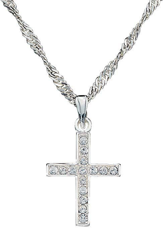 Montana Silversmiths Womens Rhinestone Cross Necklace