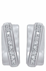 Montana Silversmiths Womens Silver Cuff Crystal Earrings (Closeout)