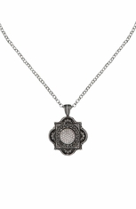 Montana Silversmiths Womens Vintage Charm Floral Necklace