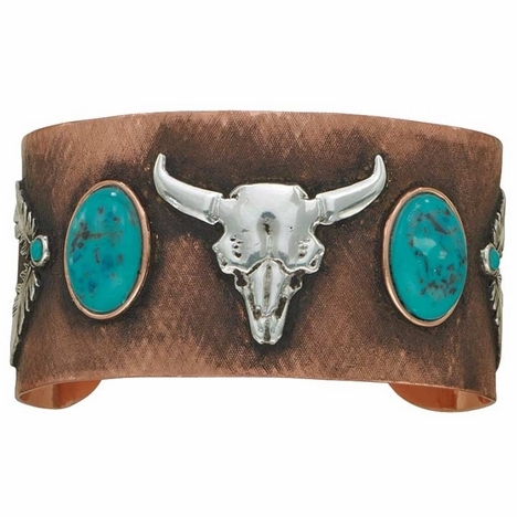 Montana SilversmithsTurquoise Moons on Antiqued Copper Cuff Bracelet (Closeout)