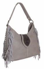Montana West Trinity Ranch Collection Cheyenne Trails Handbag - Grey (Closeout)