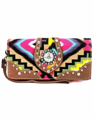 Montana West Women's Trinity Ranch Aztec Collection Wallet - Brown (Closeout)
