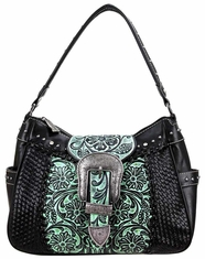 Montana West Women's Trinity Ranch Buckle Collection Handbag - Turquoise (Closeout)