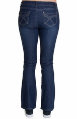 Nina Rossi J.Z Juniors Boot Cut Jeans - Dark Stone