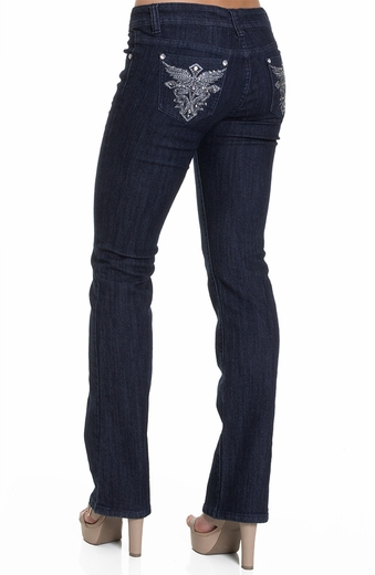 Jz Junior's Boot Cut Winged Cross Embellished Jeans (Closeout)