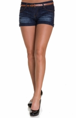 Nina Rossi Womens Junior's Belted Shorts (Closeout)
