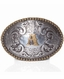 Nocona Berry Oval Initial Buckle - Silver/Gold