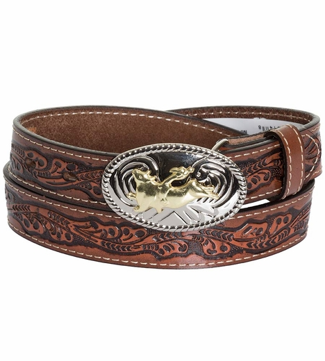 Nocona Kids Bullrider Floral Belt - Brown
