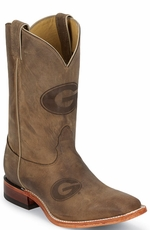 "Nocona Men's 11"" College Cowboy Boots - Georgia Bulldogs (Closeout)"