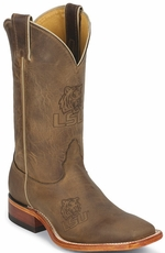 "Nocona Men's 11"" College Cowboy Boots - Lousiana State Tigers (LSU) (Closeout)"