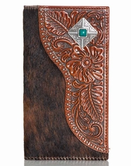 Nocona Men's Hair On Concho Rodeo Wallet - Brown