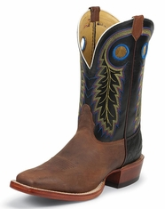 Nocona Men's Square Toe Boots - Cognac (Closeout)