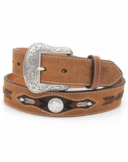 Nocona Men's Western Buffalo Concho Belt - Brown