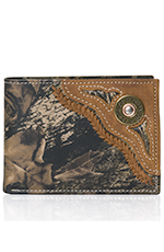 Nocona Mens Shotgun Shell Mossy Oak Bi-Fold Wallet
