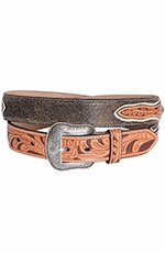 Nocona Mens Star Concho Overlay Belt - Tan