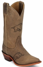 "Nocona Women's 11"" College Cowboy Boots - Arkansas Razorbacks"