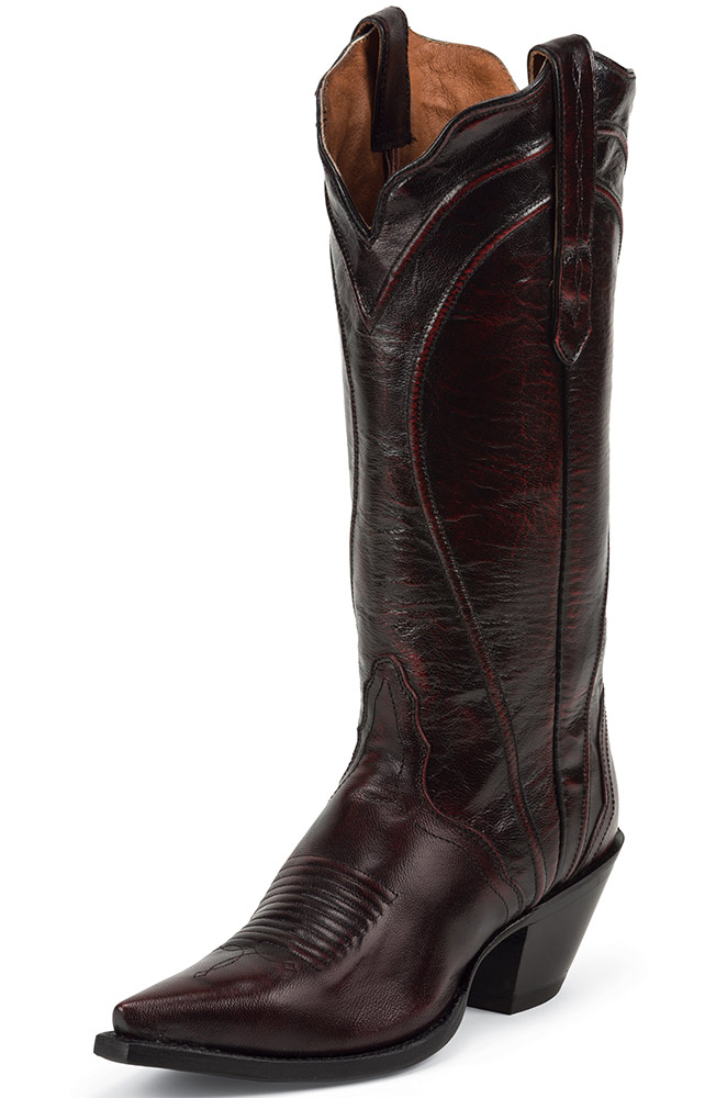 Nocona Women's Brush Off Goat Cowboy Boots - Black Cherry