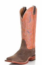Nocona Women's Legacy Square Toe Cowboy Boots - Dark Brown Ponteggio (Closeout)