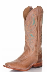 Nocona Women's Square Toe Cowhide Cowgirl Boots - Honey