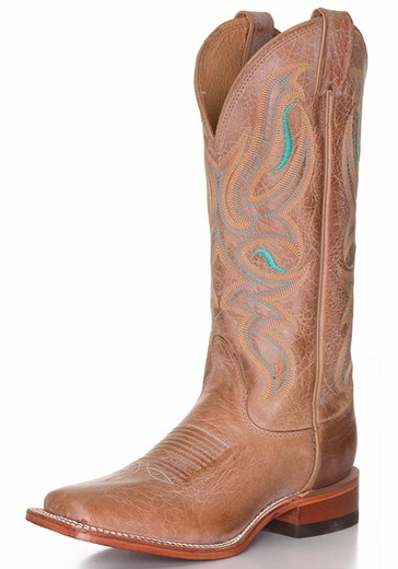 Nocona Women's Square Toe Cowhide Cowgirl Boots - Honey (Closeout)