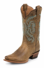 Nocona Womens Snip Toe Cowboy Boots - Old West Tan