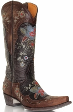 Old Gringo Women's Bonnie Floral Cowboy Boots - Brass (Closeout)
