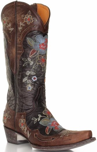Old Gringo Women's Bonnie Floral Cowboy Boots - Brass
