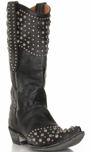 Old Gringo Women's Leigh Anne Studded Cowboy Boots - Black