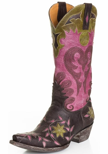 Old Gringo Women's Letty Cowboy Boots - Vesuvio Chocolate/ Violet