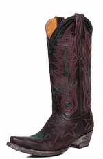 "Old Gringo Womens Nevada 13"" Snip Toe Cowboy Boots - Chocolate (Closeout)"