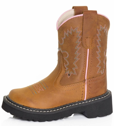 Old West Childrens Western Fashion Western Boot - Brown (Closeout)