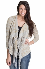 Olivia Womens Lurex Cardigan - Gold