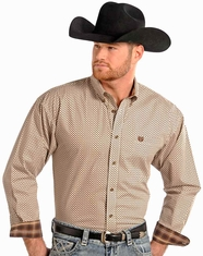 Panhandle Slim Men's Long Sleeve Snap Shirt-Brown (Closeout)