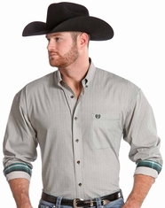 Panhandle Slim Men's Long Sleeve Snap Shirt-Green (Closeout)