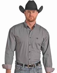 Panhandle Slim Men's Long Sleeve Snap Shirt-Grey (Closeout)