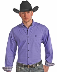 Panhandle Slim Men's Long Sleeve Snap Shirt-Purple (Closeout)