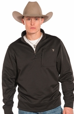 Panhandle Slim Men's Tuf Cooper Quarter Zip Fleece Pullover - Black (Closeout)