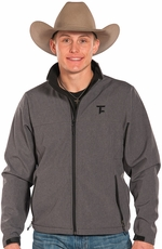 Panhandle Slim Men's Tuf Cooper Soft Shell Fleece Jacket - Grey (Closeout)